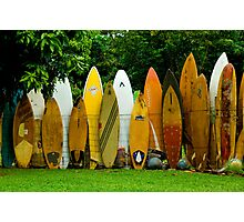 Surfboard Fence Photographic Print