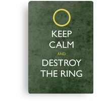 keep calm frodo - distressed Canvas Print