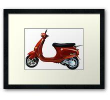Vespa Scooter Framed Print