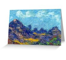 Ridgeline (pastel) Greeting Card