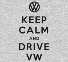 Keep Calm and Drive VW (Version 02) One Piece - Long Sleeve