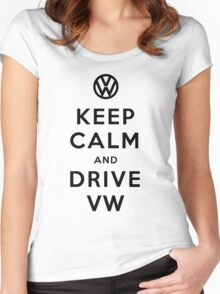 Keep Calm and Drive VW (Version 02) Women's Fitted Scoop T-Shirt