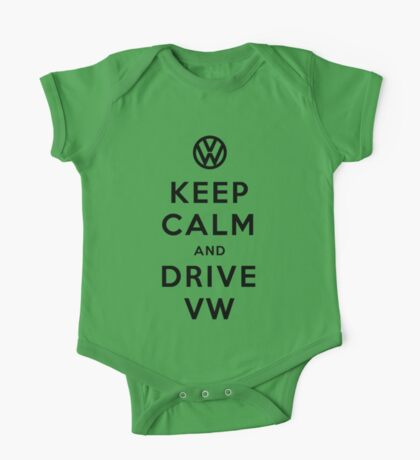 Keep Calm and Drive VW (Version 02) One Piece - Short Sleeve