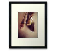 OIL PASTEL #NEUTRAL Framed Print