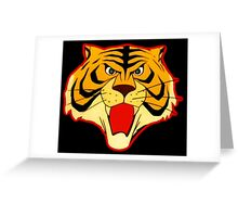 Tiger Mask, the mask of the warrior Greeting Card