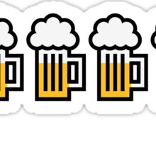 Beer Drinking Octopus (3C) Sticker