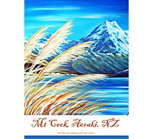 Mt Cook, Aoraki NZ Photographic Print