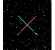 Star Wars Crossed Lightsabers Space pattern Photographic Print