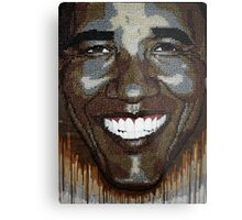 "President Obama ""Wet Paint"" Metal Print"