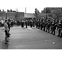 Scene from the NATO Protests (Confrontation) Photographic Print