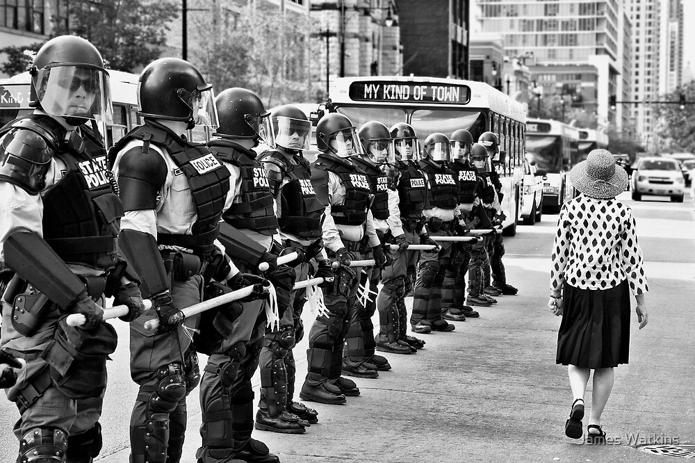 Scene from the NATO Protests (My Kind of Town...) by James Watkins