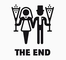 The End (Wedding / Marriage / Champagne / Black) Unisex T-Shirt