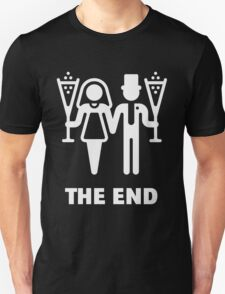 The End (Wedding / Marriage / Champagne / White) T-Shirt