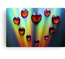 Waterdrop Heart Canvas Print