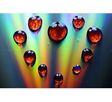Waterdrop Heart Photographic Print