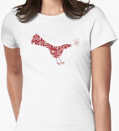 Bird Talk Womens Fitted T-Shirt