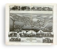 Panoramic Maps View of Annville Pennsylvania 1888 Metal Print