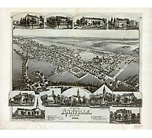 Panoramic Maps View of Annville Pennsylvania 1888 Photographic Print