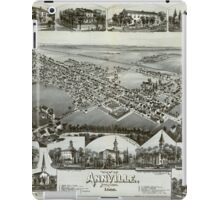 Panoramic Maps View of Annville Pennsylvania 1888 iPad Case/Skin