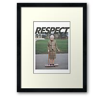 Respect the Skater Framed Print