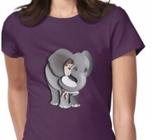 Twisted - Wild Tales: Kyna and the Elephant Womens Fitted T-Shirt
