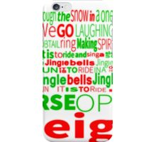 Jingle Bells Typography iPhone Case/Skin