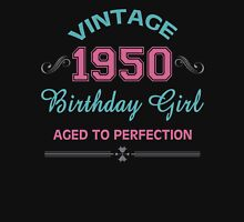 Vintage 1950 Birthday Girl Aged To Perfection Womens Fitted T-Shirt