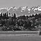 Olympic Mountains (B&W) by Turtle6