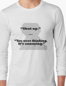 Sherlock on thinking Long Sleeve T-Shirt