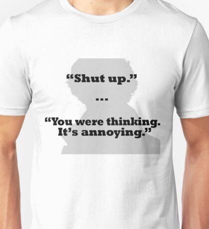 Sherlock on thinking Unisex T-Shirt