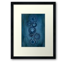 Gallifreyan Graffiti Framed Print