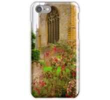 Holy Trinity Church With Flowers & Gravestones iPhone Case/Skin