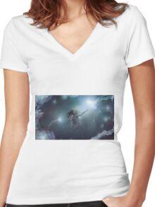 Light Touch Women's Fitted V-Neck T-Shirt
