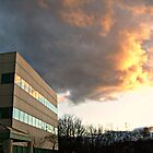 Amazing Sunset Clouds Over the Doctor's Office and Reflections, Morristown NJ by Jane Neill-Hancock