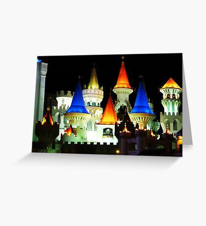 Excalibar - Vegas Greeting Card