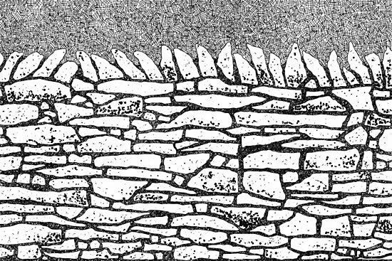 Stone wall by Nic Squirrell