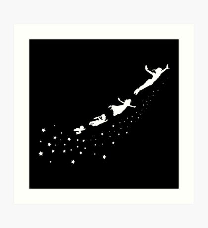 Peter Pan Flying Art Print