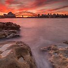 Sydney Harbour at sunset by KeithMcInnes