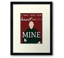 "Voldemort - ""I have seen your heart and it's mine"" Framed Print"