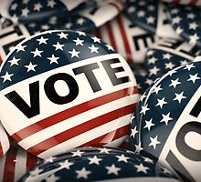 Vote Button by Carsten Reisinger