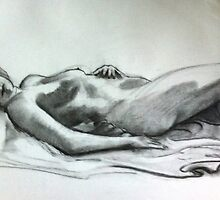 charcoal life study by jj1953