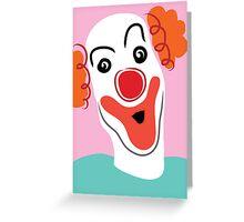Portrait of a clown Greeting Card