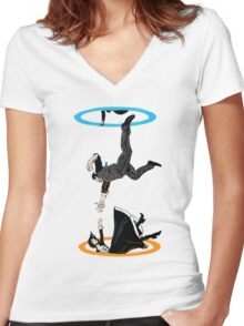 Infinite Loop Women's Fitted V-Neck T-Shirt