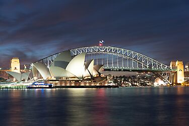 Sydney Harbour at dusk by KeithMcInnes