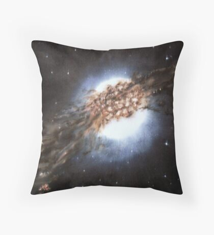 Centaurus A - Galaxy Cannibalism Throw Pillow