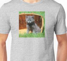 Grey Fluffy Kitten Unisex T-Shirt