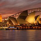 Sydney Opera House at sunset with the Bridge by KeithMcInnes