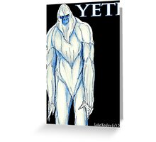 Yeti Greeting Card