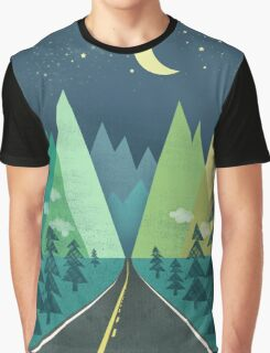 the Long Road at Night Graphic T-Shirt