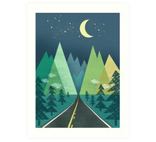 the Long Road at Night Art Print